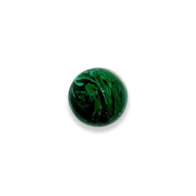 Contemporary Addison Weeks Tanner Knob, Brass & Malachite - a Pair For Sale - Image 3 of 5
