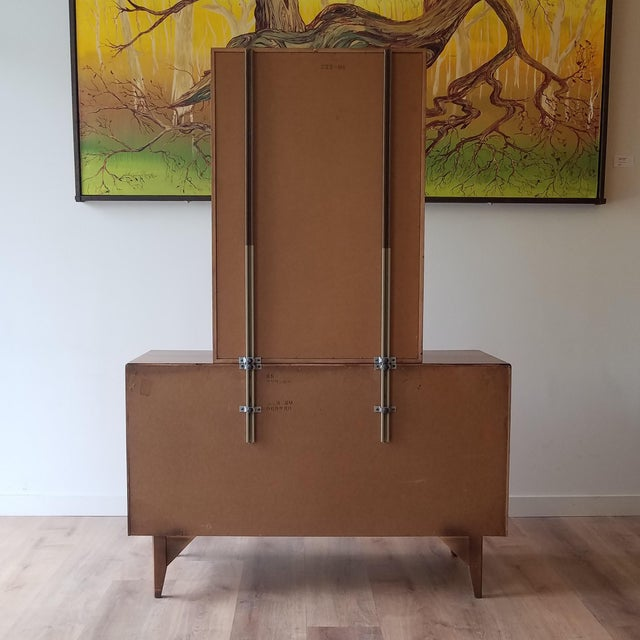 1960s Lane Perception Four Drawer Dresser With Mirror For Sale - Image 11 of 13