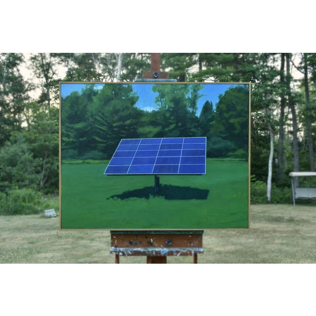"""2010s Contemporary Painting, """"Solar Panel in a Field"""" by Stephen Remick For Sale - Image 12 of 12"""