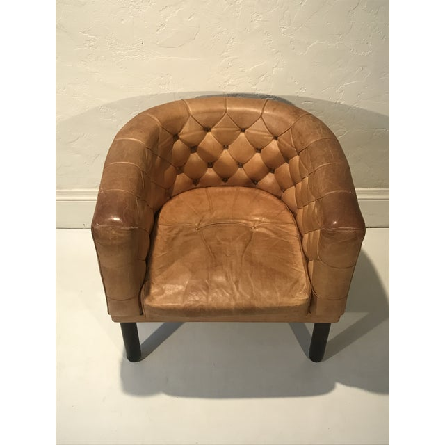 Cassina Figli Di Amedeo Tufted Cognac Leather Club Chair with rosewood legs, 1960 Italy. Extraordinary piece of furniture!...