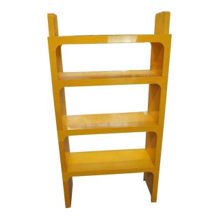 1970s Boho Chic Yellow Kartell Olaf Von Bohr Space Age Modular Bookshelf For Sale