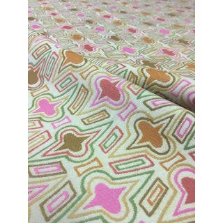 Donghia Casino Flamingo Retro Geometric Upholstery Fabric - 1 & 5/8th Yards For Sale
