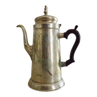 1950s Vintage Silver Plate and Bakelite Coffee Pot For Sale