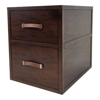 Hickory Chair Modern Mahogany Finished Wood Harrison File Cabinet For Sale