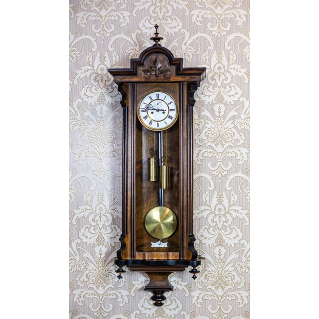 We present you a wall clock from the 2nd half of the 19th century in a wooden Louis Philippe case. This clock strikes full...