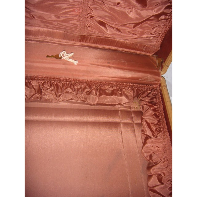 Mid Century Penney's Towncraft Vinyl Suitcase For Sale - Image 10 of 10
