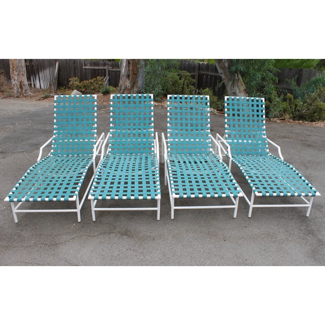 Mid-Century Tropitone 'Cantina' Reclining Patio Lounges - Set of 4 - Image 4 of 11