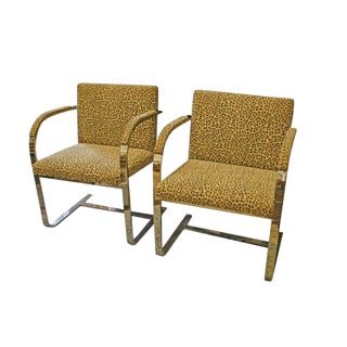 Pair of Mies Van Der Rohe Chairs for Knoll Mid-Century For Sale