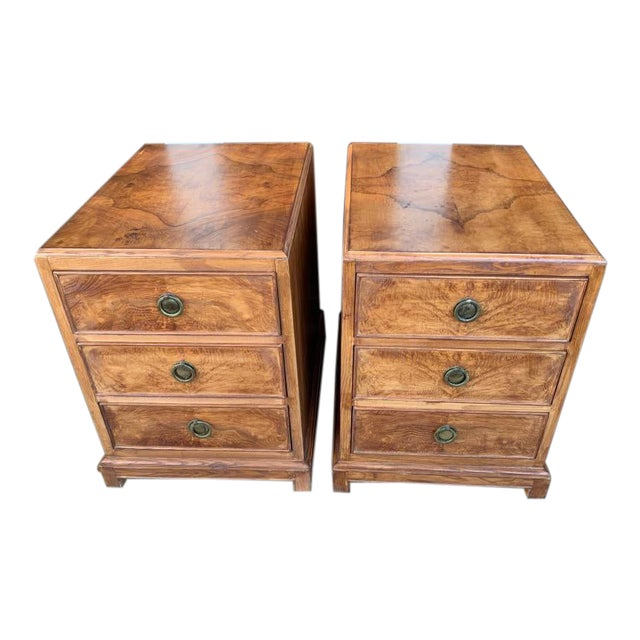 1960s Mid-Century Modern Burl Wood American of Martinsville - a Pair For Sale