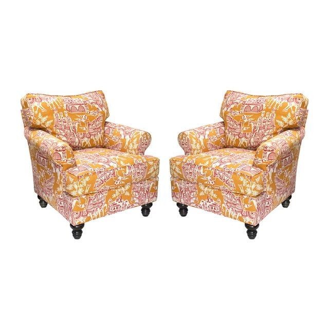 Wood A. Rudin Club Chairs, Down-Filled, Pair For Sale - Image 7 of 7