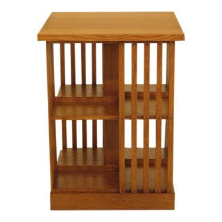 Stickley Mission Oak Revolving Bookcase