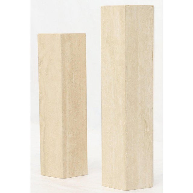 Mid-Century Modern Travertine Marble Tall Tower Shape Table Pedestal For Sale - Image 11 of 13