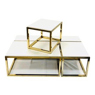 Contemporary Adjustable 3-Piece Cocktail and Side Table - 4 Pieces