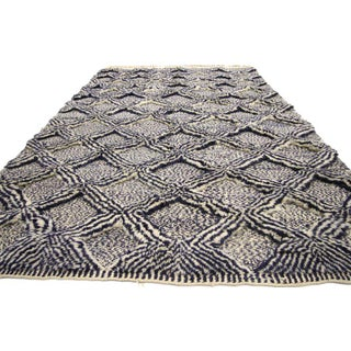 Moroccan Rug With Diamond Trellis - 5'8 X 10'4 Preview