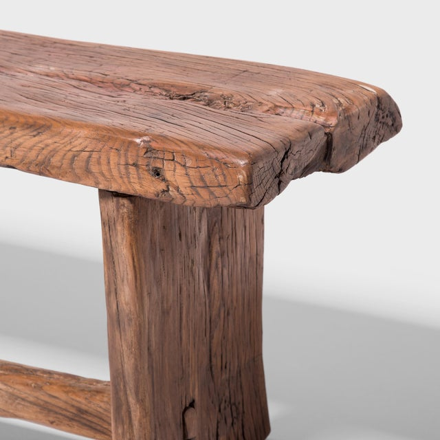 Provincial Chinese Reclaimed Elm Bench For Sale In Chicago - Image 6 of 7