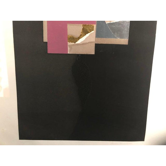 "Vintage 1973 Louise Nevelson ""Aquatint Iii"" Pace Galleries Aquatint Etching and Collage Pencil Signed and Numbered 10 of 90 For Sale In West Palm - Image 6 of 13"