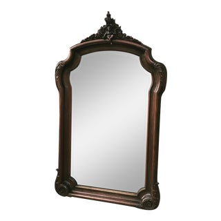 Large Carved Wood Widdicomb Mirror For Sale