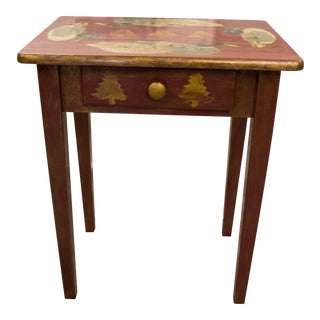 Lodge Cottage Country Hunting Duck Side Table
