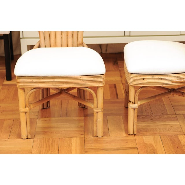 Jaw-Dropping Set of 8 Custom Made Palm Frond Dining Chairs, Circa 1950 For Sale - Image 10 of 13