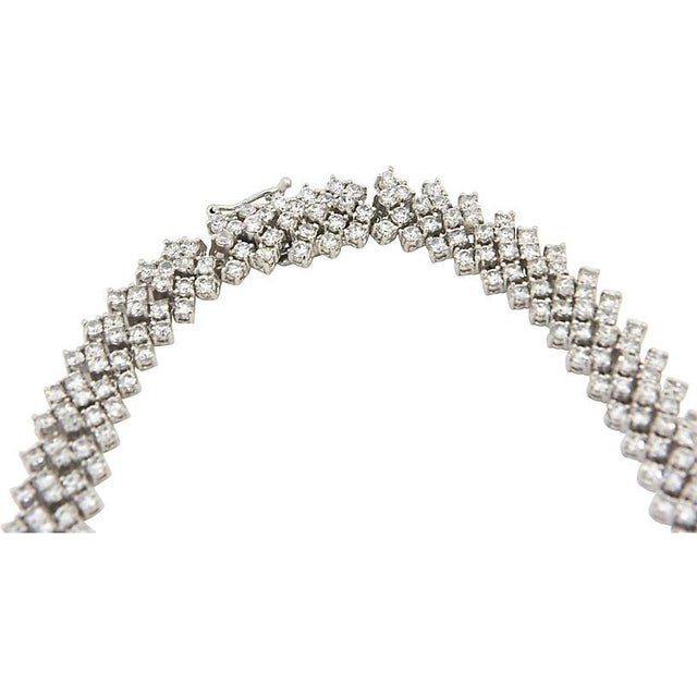 Modern Red Carpet Crystal Drop Necklace For Sale - Image 3 of 10