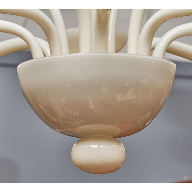 Ivory Murano Glass Chandelier For Sale - Image 9 of 10
