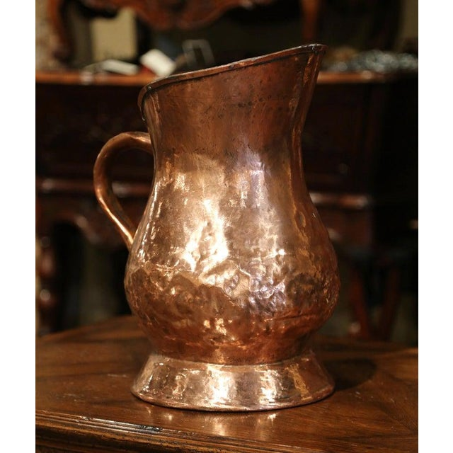 Country 18th Century French Polished Copper Decorative Coal Bucket or Umbrella Stand For Sale - Image 3 of 9