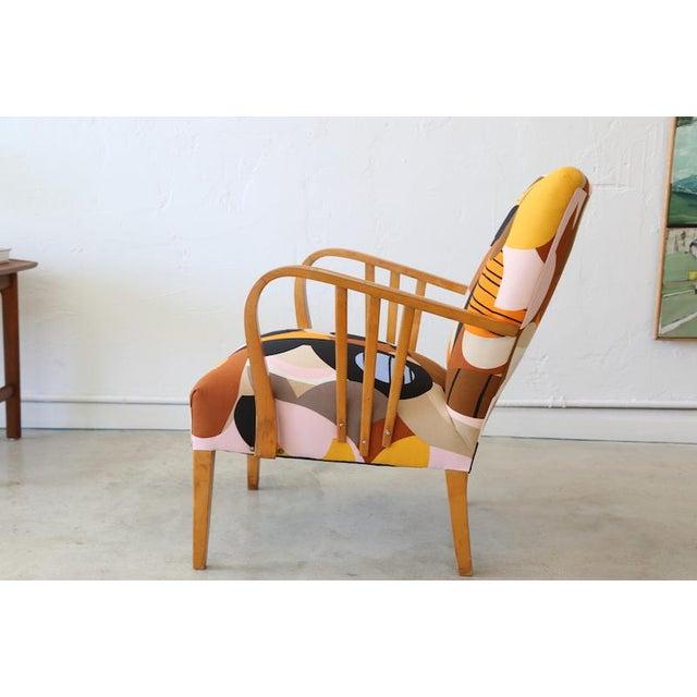 Marimekko Britta Maj on Vintage Swedish Armchair For Sale - Image 5 of 10