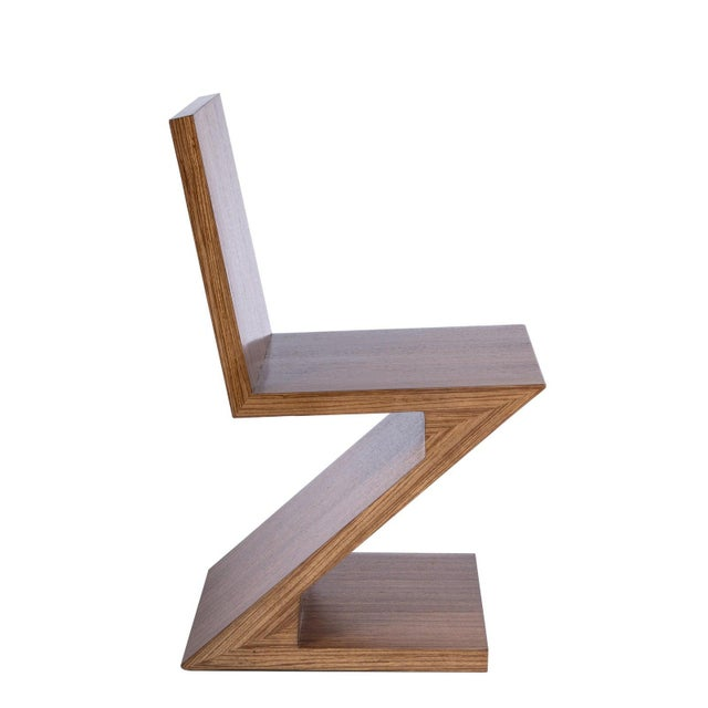 Zig Zag Chair in Brown For Sale In Los Angeles - Image 6 of 6