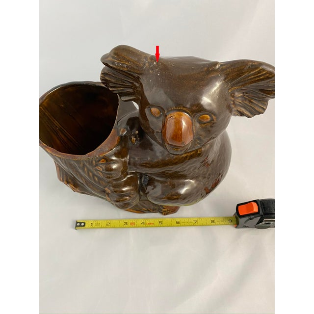 Clay Haeger Koala Planter Brown For Sale - Image 7 of 13
