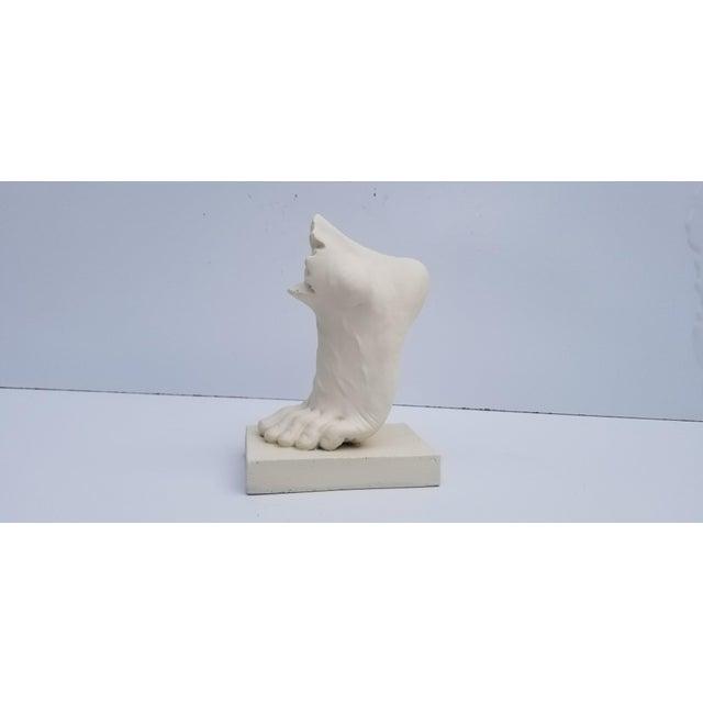 White Vintage Art Modern Plaster Cast Foot Sculpture For Sale - Image 8 of 8