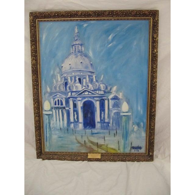 Impressionism Framed Vintage Painting of Venice For Sale - Image 3 of 8