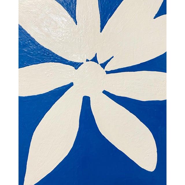 "Exclusive John O'Hara ""Big Blue Daisy"" Encaustic Paintings - 2 Panels For Sale In Saint Louis - Image 6 of 9"