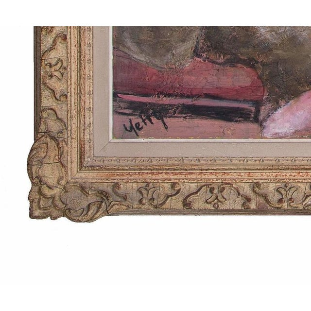 "Original Oil Painting on Board by Yetty Titled ""Piano Player"" - Image 2 of 4"
