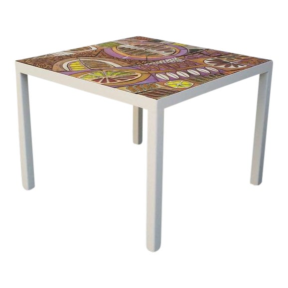 Studio Ceramic Tile Top Table by Brent Bennett For Sale