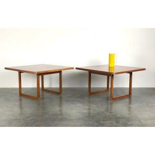 Rud Thygessen Danish Teak and Aluminum Tables, a Pair Preview