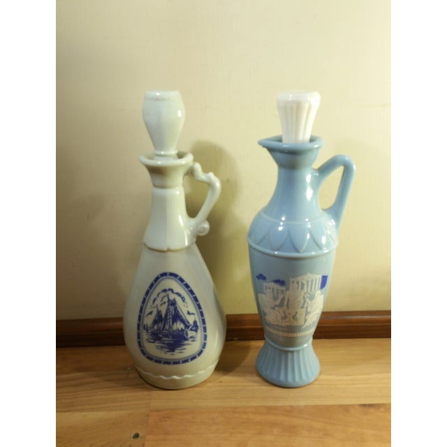 Vintage Jim Beam Milk Glass Decanters - A Pair - Image 2 of 8