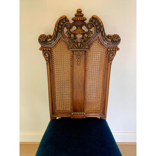 Chestnut Early 20th Century Vintage Italian Rococo Chair For Sale - Image 8 of 10