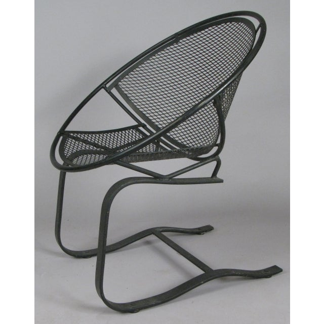 Mid-Century Modern Wrought Iron Radar Lounge Chairs by Salterini, Circa 1950 - a Pair For Sale - Image 3 of 8