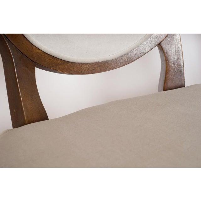 Louis XVI Gray Velvet Dining Chairs - Set of 8 - Image 5 of 9