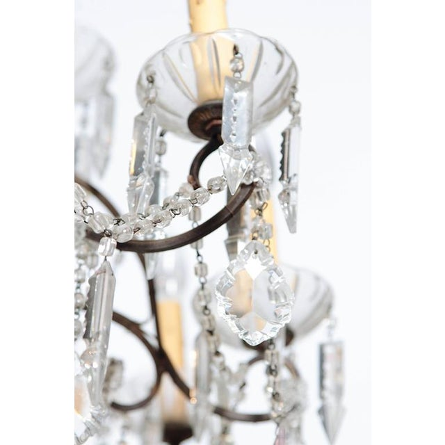 19th Century Italian 18-Light Crystal Chandelier For Sale - Image 9 of 10