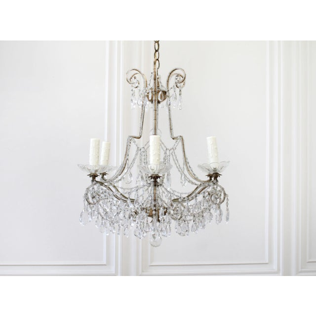 Antique French Beaded Arm Chandelier SKU Number: 5082-017662 Description: Beautiful antique French macaroni beaded arm...