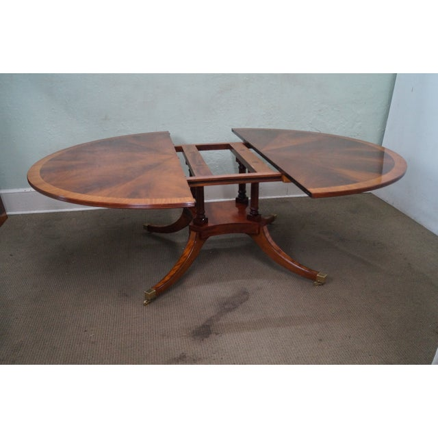 Flame Mahogany Duncan Phyfe Extension Dining Table - Image 10 of 10