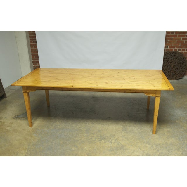 Italian Pine Farm Dining Table - Image 5 of 11