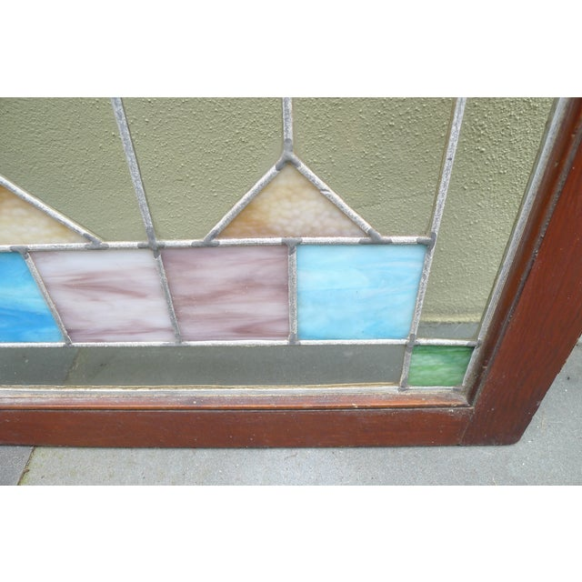 Pair of Arts & Crafts Stained Glass Windows c. 1920 For Sale - Image 4 of 9