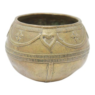 Antique Cast brass Measuring Bowl from Northern India For Sale