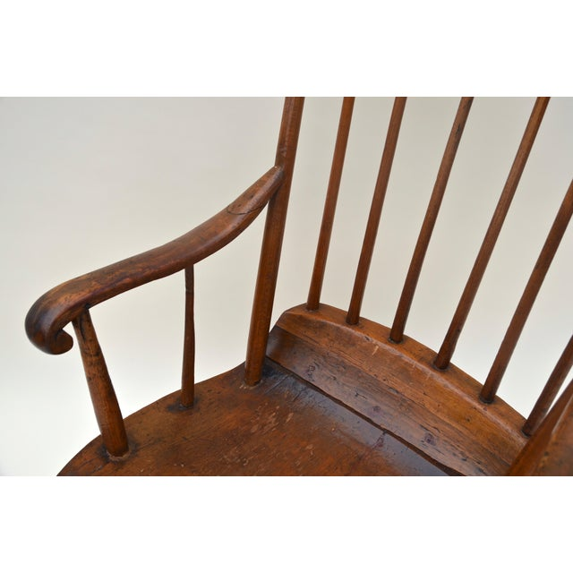 Brown Antique Primitive Boston Rocking Chair C.1840s For Sale - Image 8 of 11