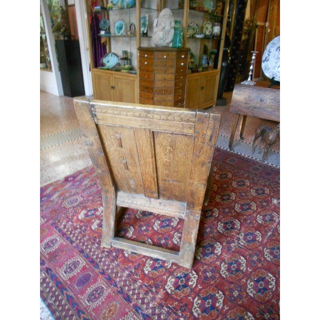 Antique English Tudor/Stuart Oak Chair - Image 4 of 6