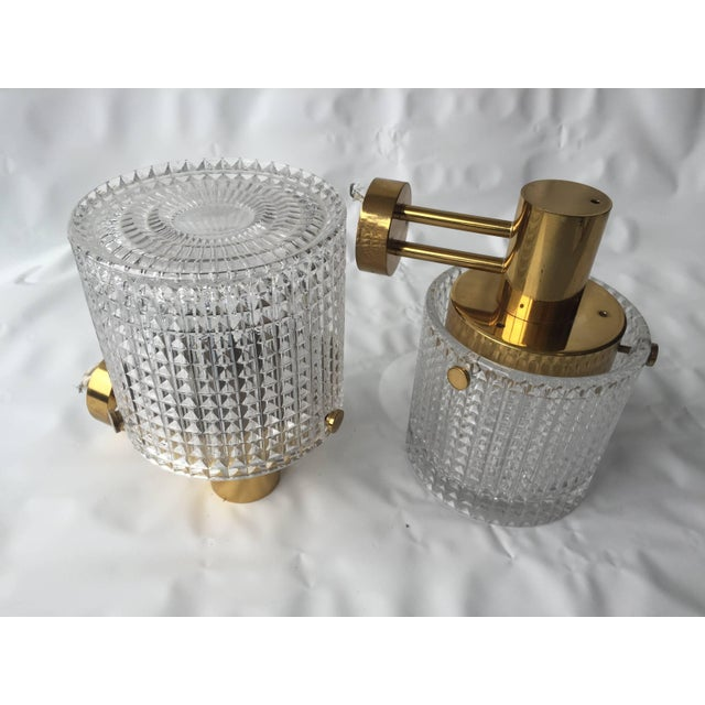 1970s Up or Down Mounted Wall Lights Orrefors Attributed - a Pair For Sale - Image 5 of 6