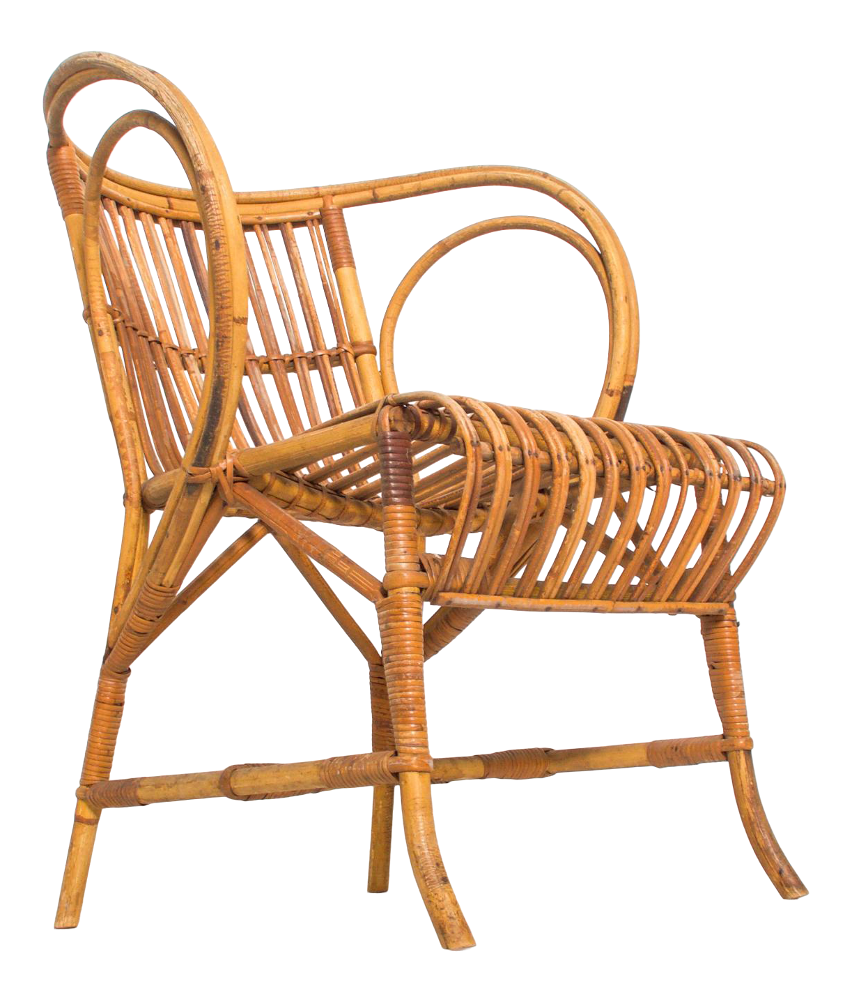 Picture of: Mid Century Modern By R Wengler Wicker Patio Lounge Chair Denmark 1960s Chairish