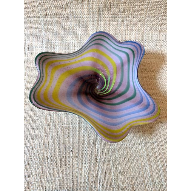 Mid-Century Modern Mid-Century Modern Italian Glass Candy Dish For Sale - Image 3 of 6